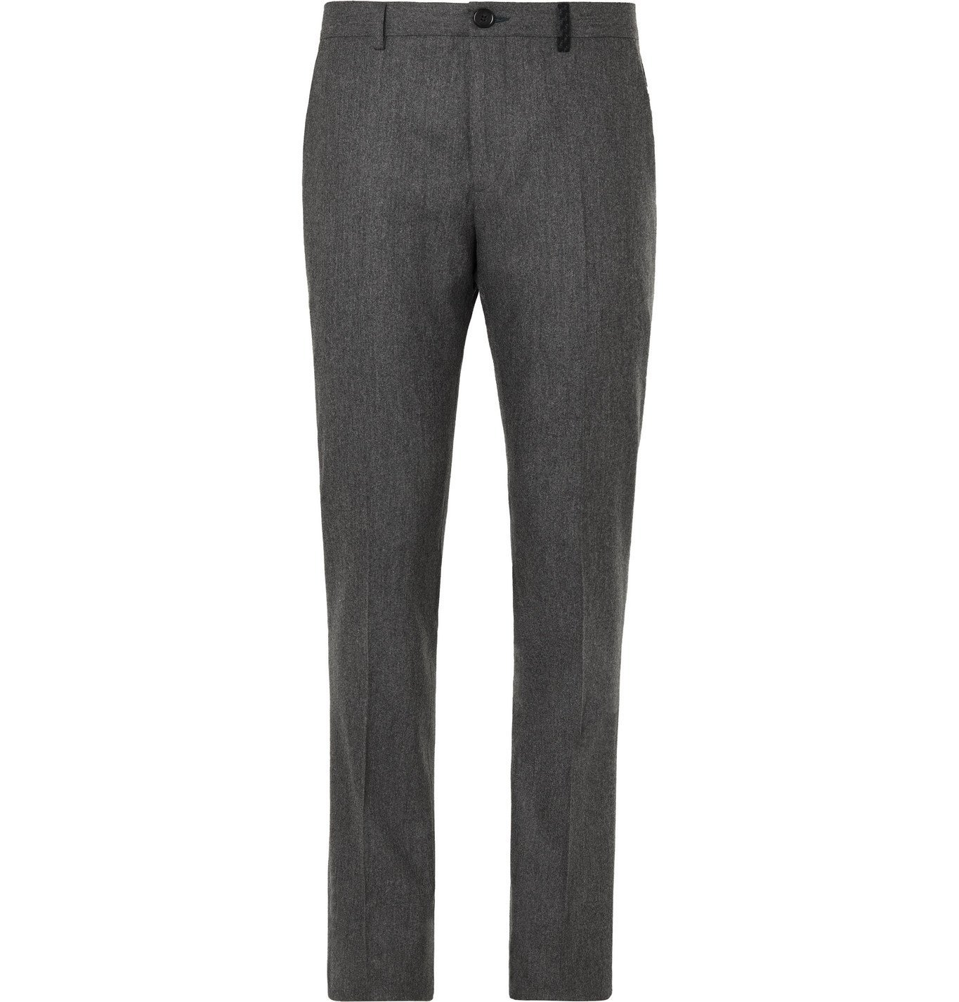 Photo: PS Paul Smith - Grey Slim-Fit Mélange Wool-Flannel Suit Trousers - Gray