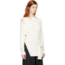 3.1 Phillip Lim Off-White Ribbed Off-the-Shoulder Pullover