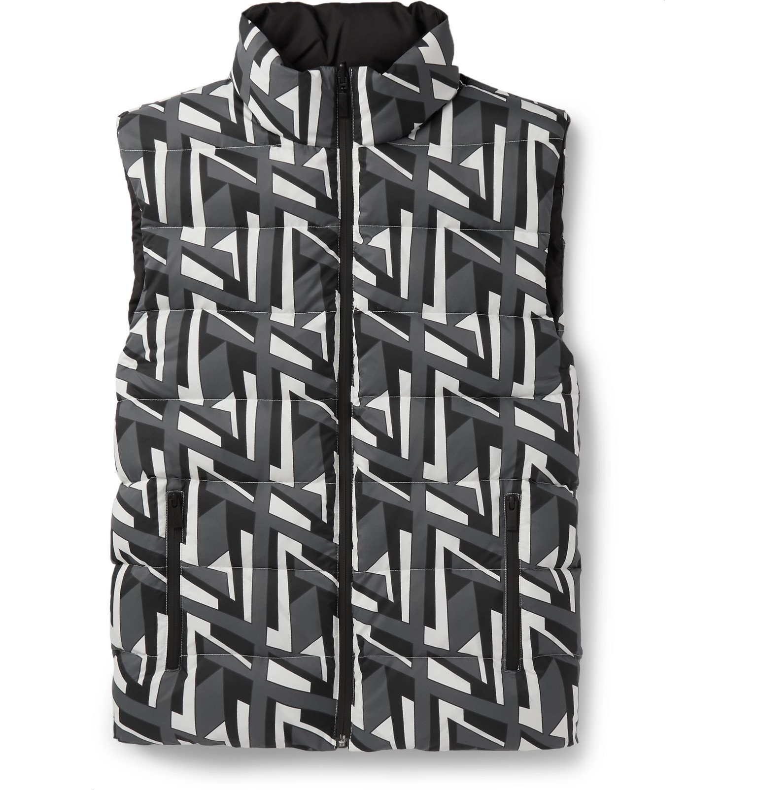 Photo: Fendi - Reversible Quilted Shell Down Gilet - Gray