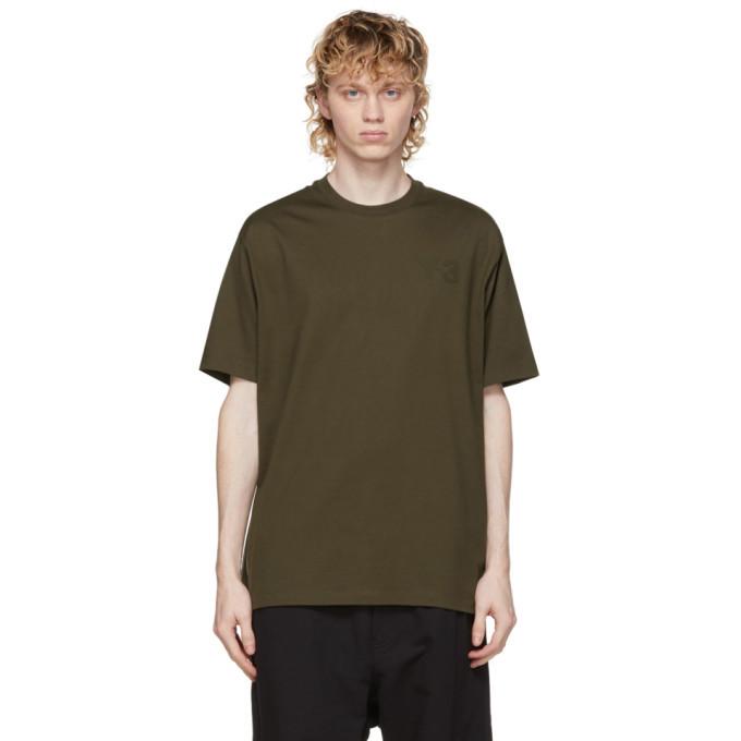 Photo: Y-3 Khaki Classic Logo T-Shirt