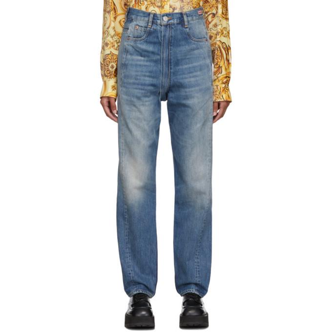 Martine Rose Indigo Zip Crotch Jeans