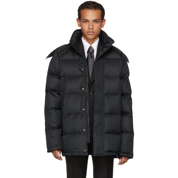 Photo: Brioni Black Down Hooded Puffer Jacket