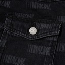 Wood Wood Cam Logo Print Denim Jacket