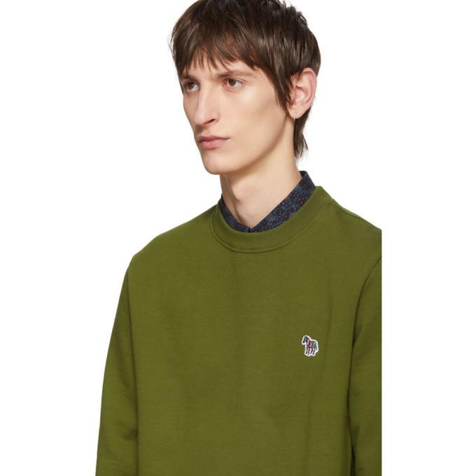 PS by Paul Smith Green Zebra Logo Sweatshirt