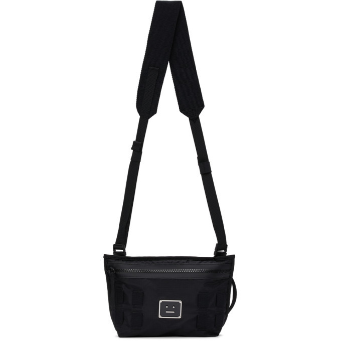 Photo: Acne Studios Black Logo Plaque Belt Messenger Bag
