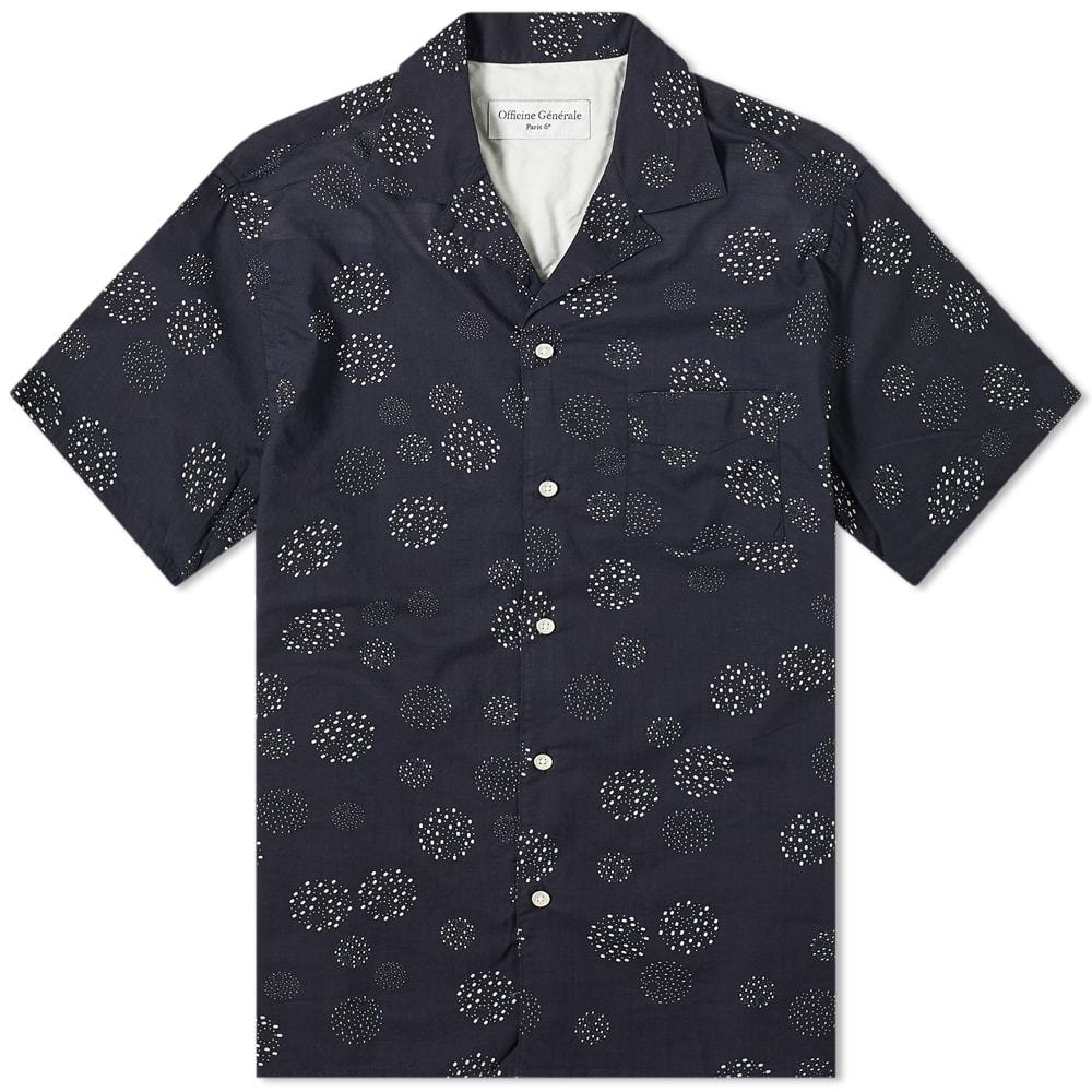 Photo: Officine Generale Dario Short Sleeve Dots Print Shirt