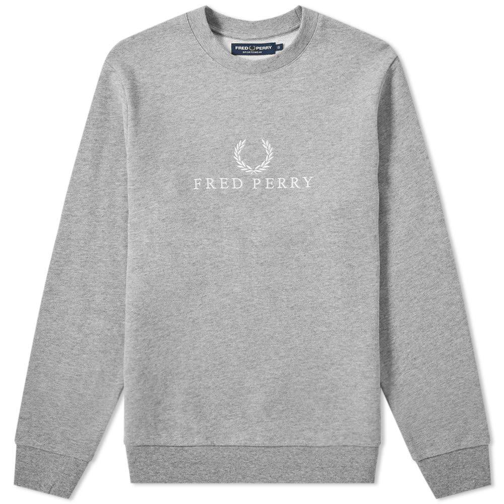 Photo: Fred Perry Embroidered Sweat Steel Marl