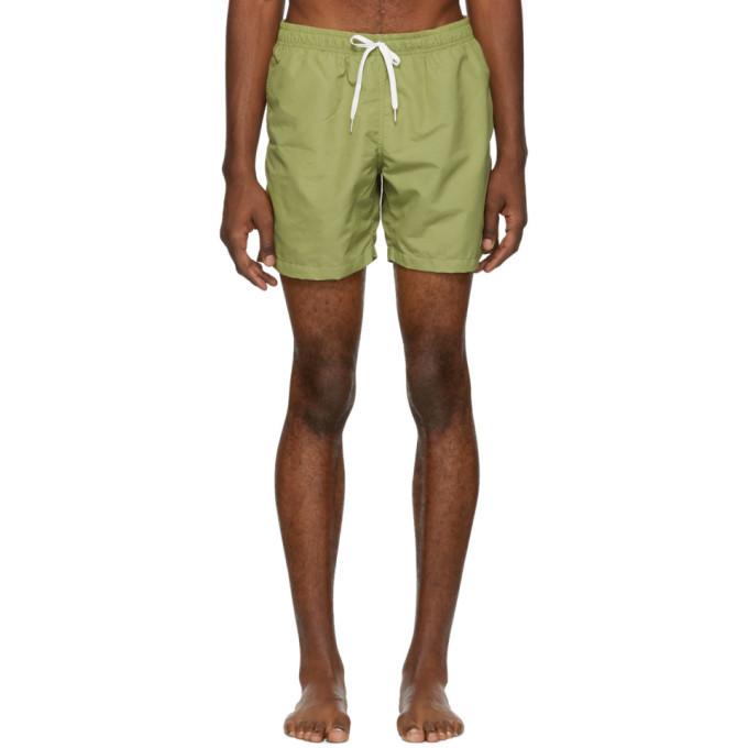 Photo: Bather Green Solid Swim Shorts