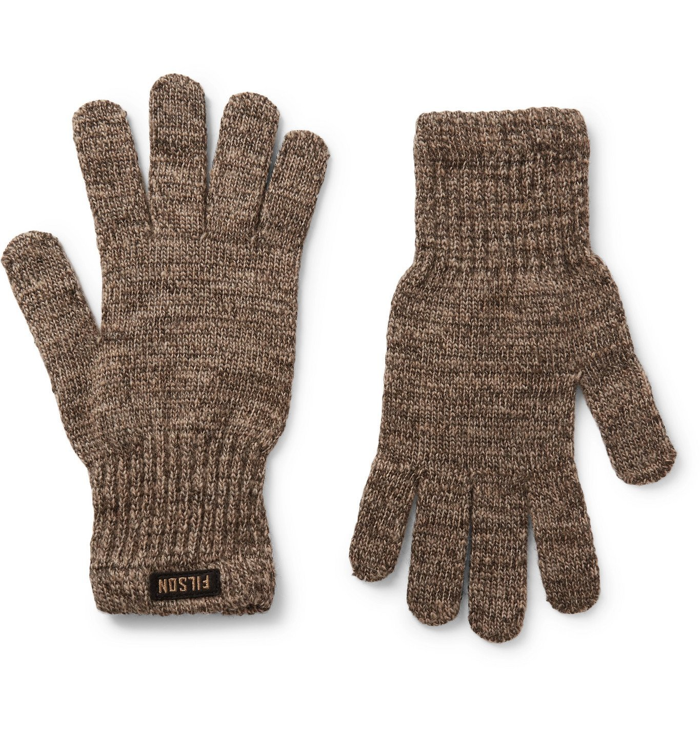 Photo: Filson - Mélange Wool-Blend Gloves - Gray