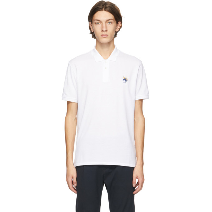 Photo: PS by Paul Smith White and Blue Angel Monkey Polo