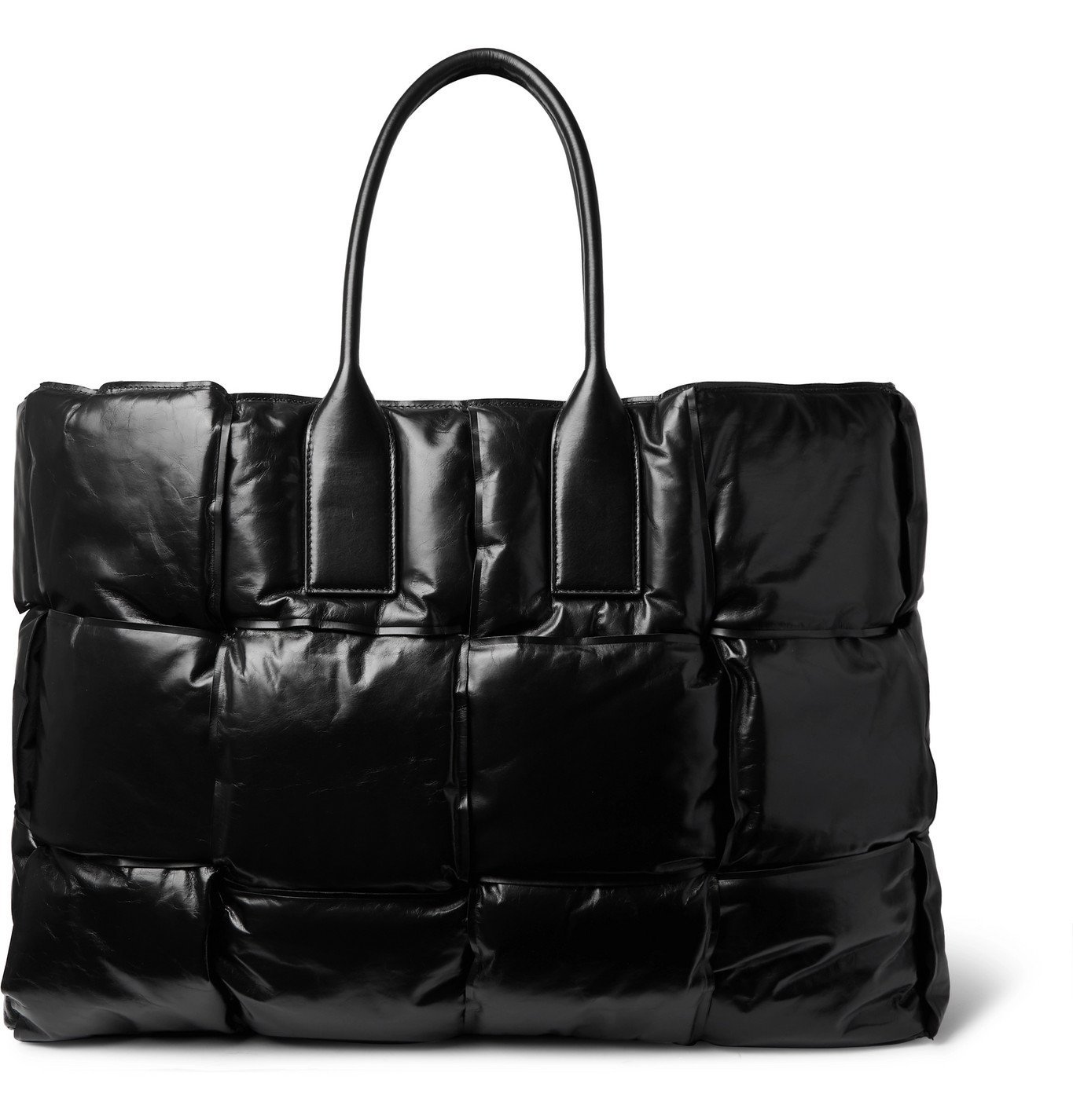 Photo: Bottega Veneta - Intrecciato Padded Shell Tote Bag - Black