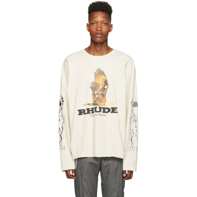 Photo: Rhude Off-White Almost Home Long Sleeve T-Shirt