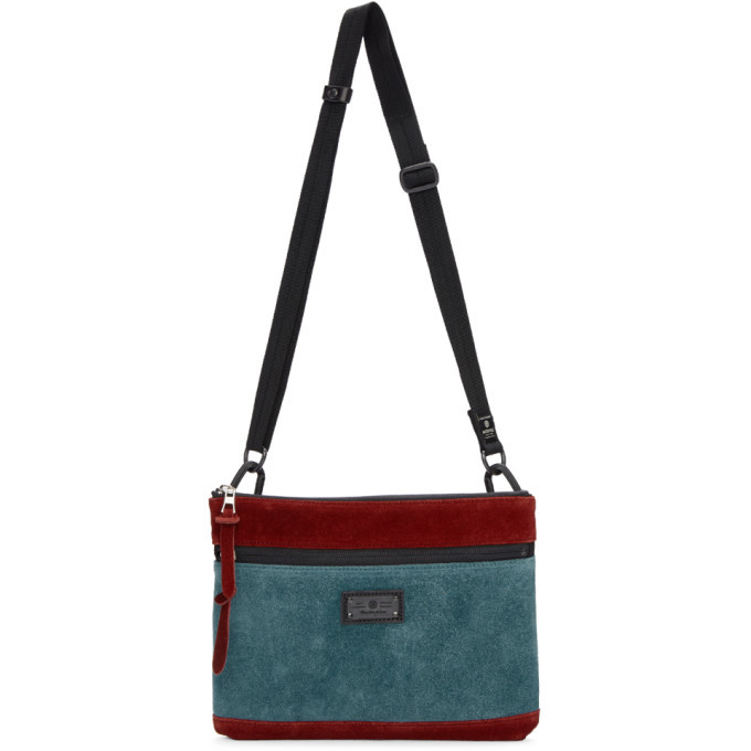 Photo: Master-Piece Co Burgundy and Blue Revise Waterproof Messenger Bag