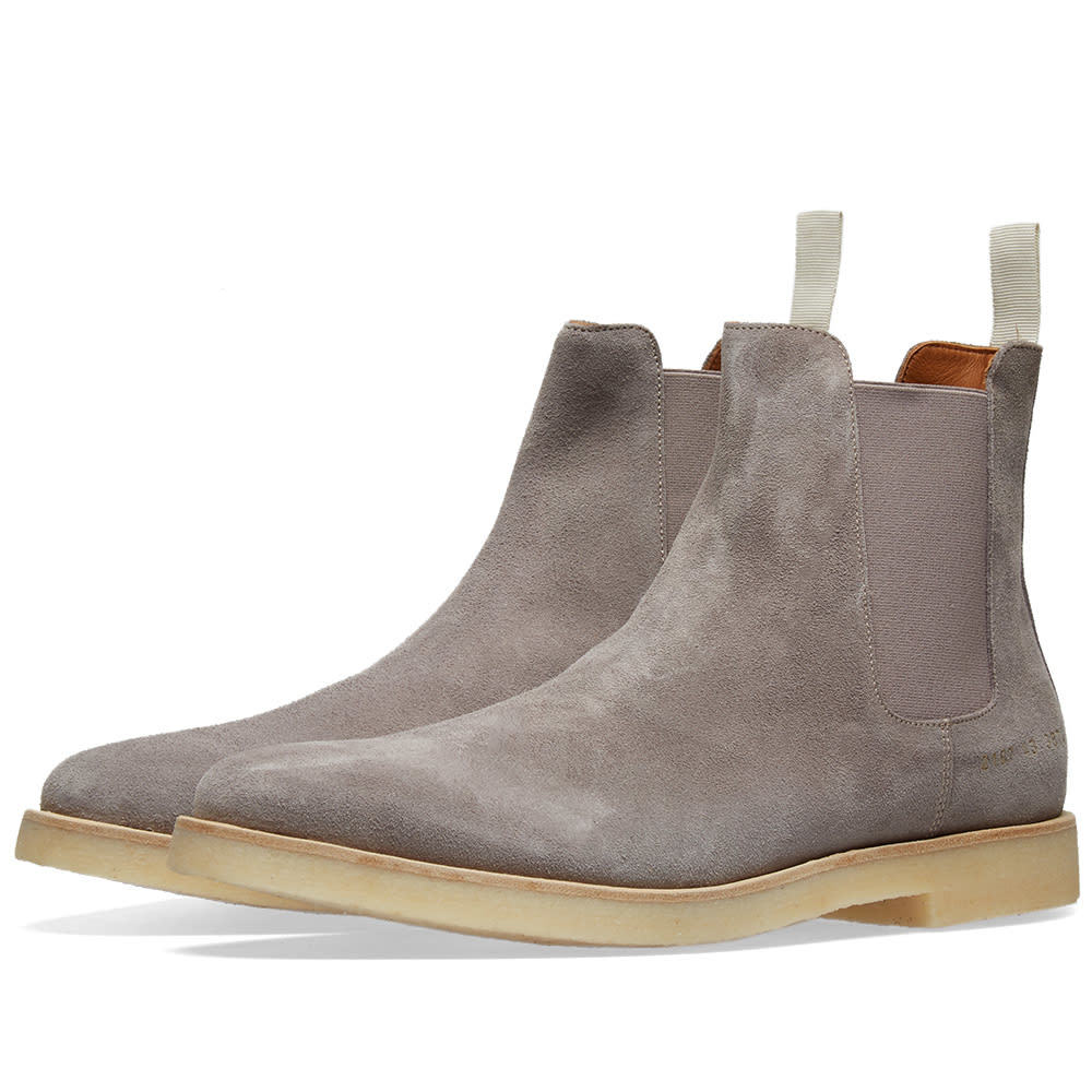 Photo: Common Projects Chelsea Boot Suede Warm Grey