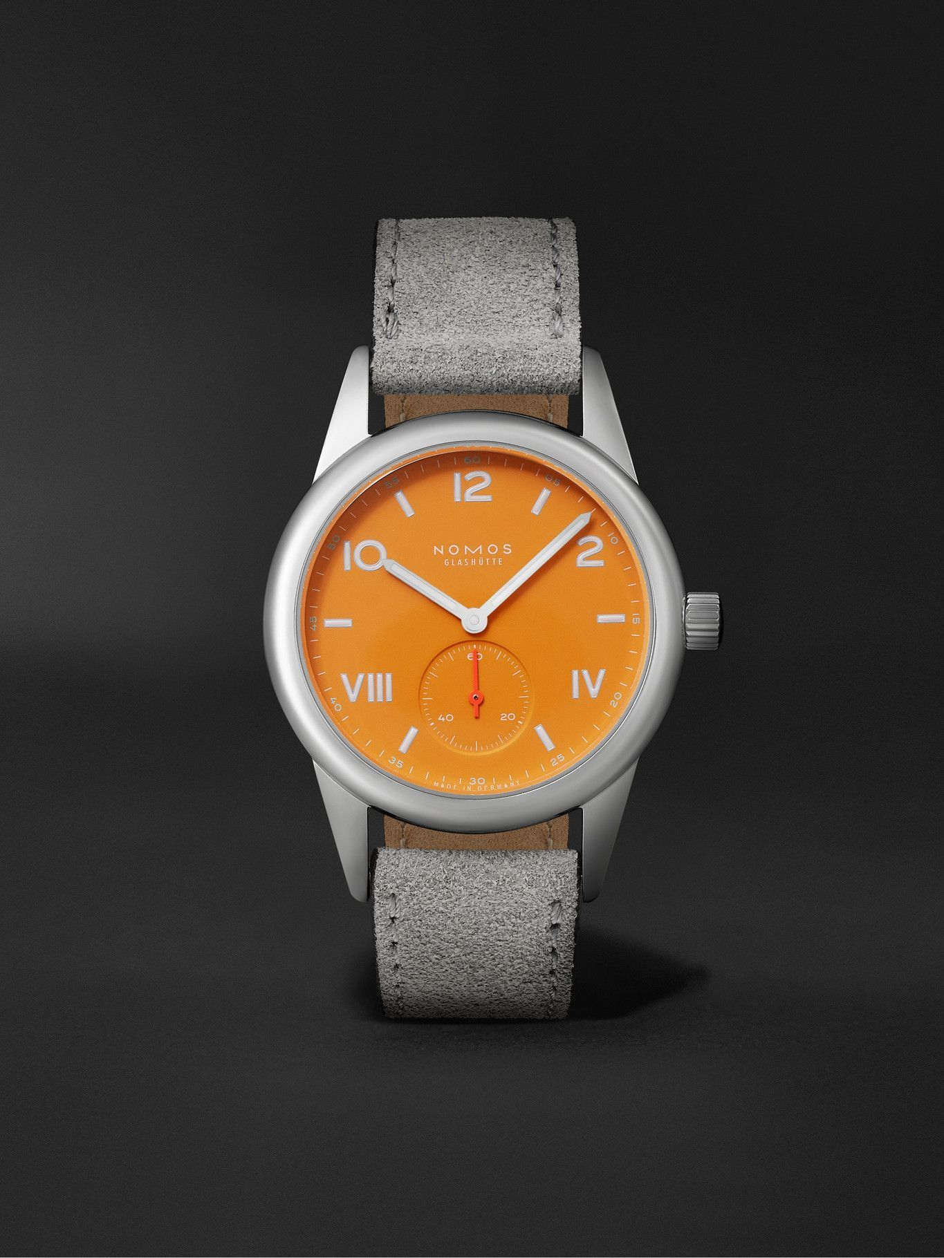 Photo: NOMOS Glashütte - Club Campus Hand-Wound 36mm Stainless Steel and Leather Watch, Ref. No. 710