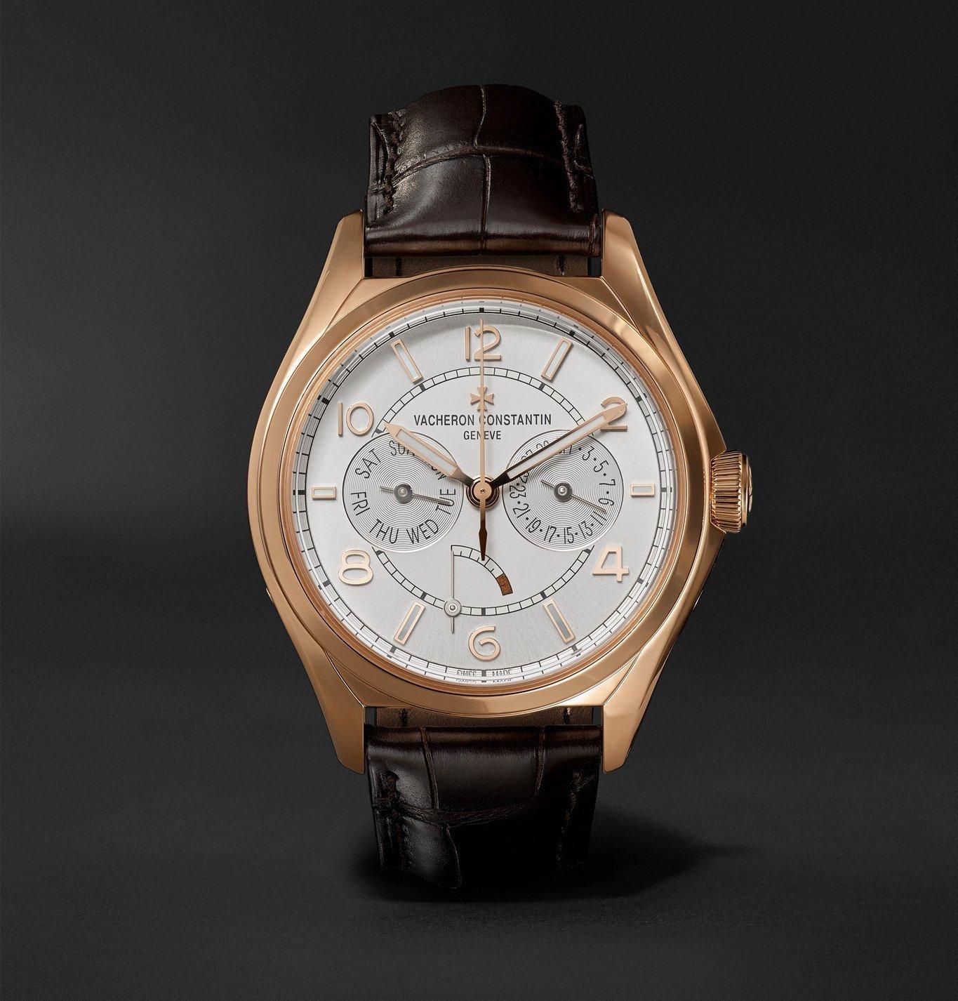 Photo: Vacheron Constantin - Fiftysix Day-Date Automatic 40mm 18-Karat Pink Gold and Alligator Watch, Ref. No. 4400E/000R-B436 - Unknown