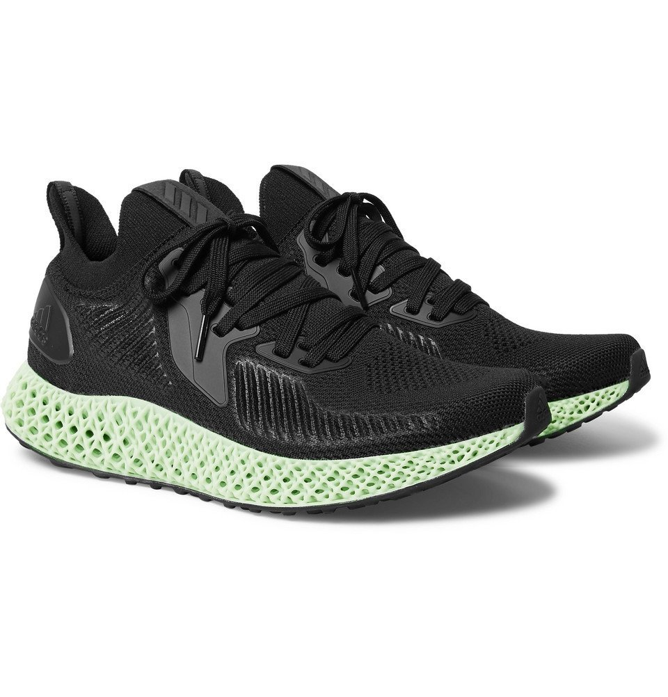 Photo: adidas Originals - Alphaedge 4D Rubber-Trimmed Primeknit Sneakers - Black