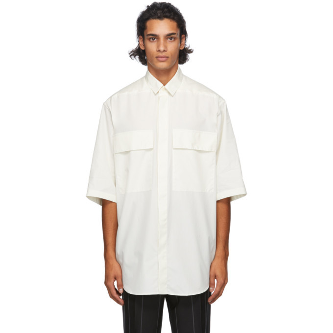 Photo: Fear of God Ermenegildo Zegna Off-White Cotton Short Sleeve Shirt