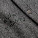 Stella McCartney - The Beatles Alwin Embroidered Mélange Wool-Blend Blouson Jacket - Gray