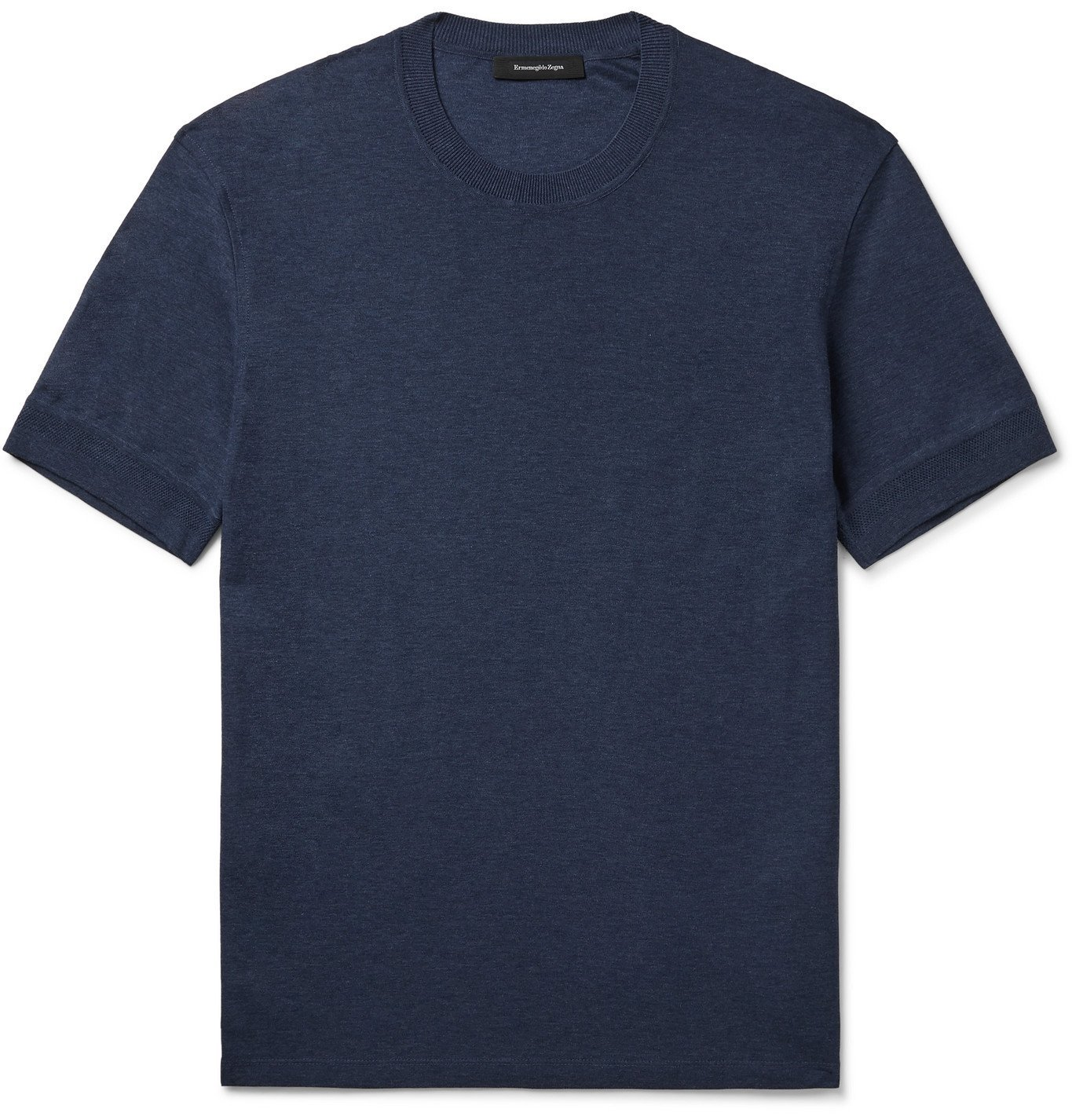 Photo: Ermenegildo Zegna - Cotton-Jersey T-Shirt - Blue