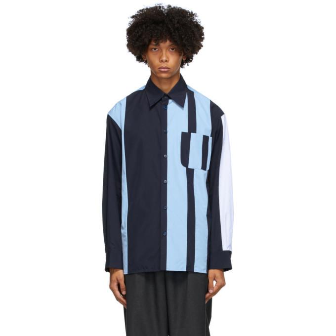 Photo: Marni Blue Striped Block Shirt