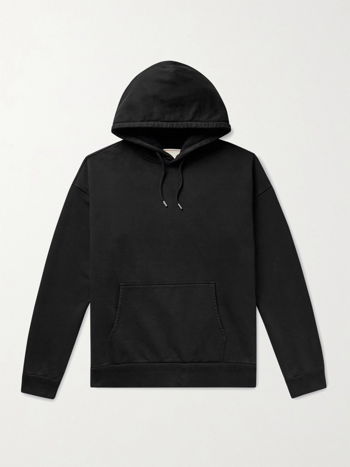 Photo: Jeanerica - Jules Organic Loopback Cotton-Jersey Hoodie - Black