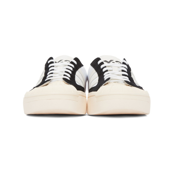 Y-3 White and Black Yohji Star Sneakers
