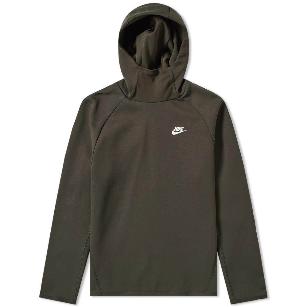 cac0f198465e3 Photo: Nike Tech Fleece Popover Hoody Sequoia & White
