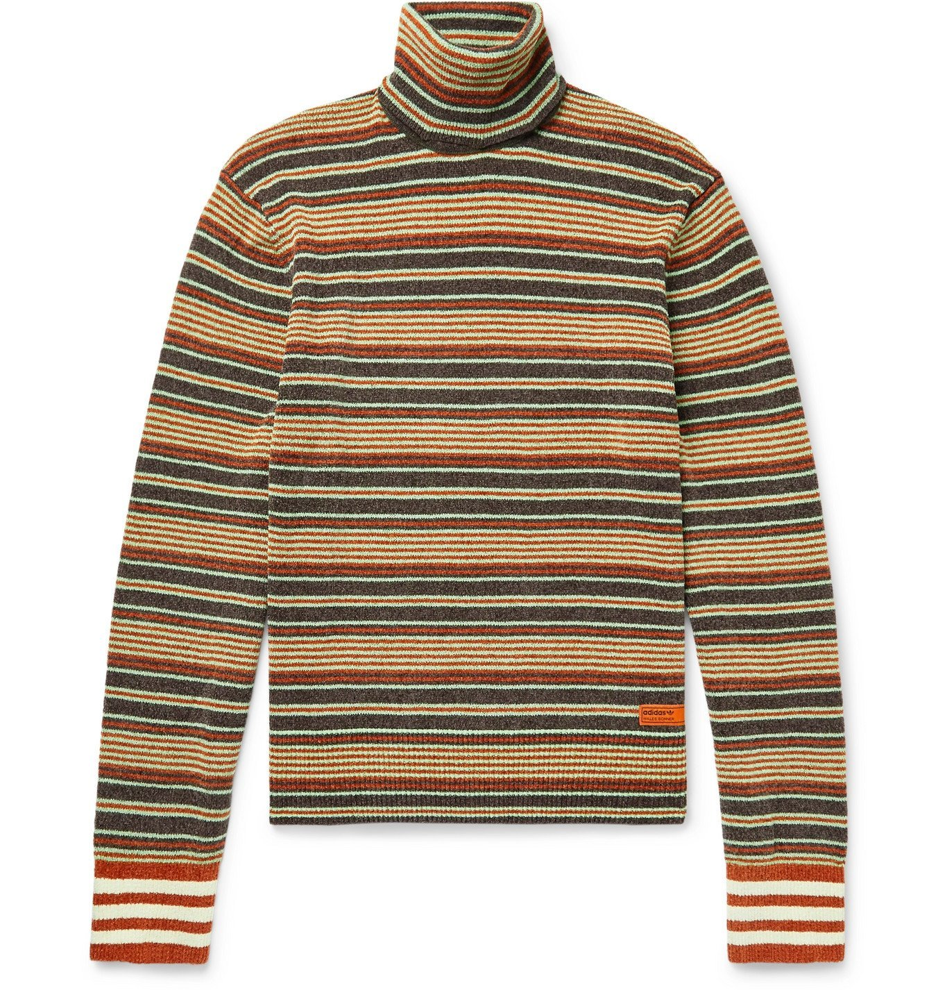 Photo: adidas Consortium - Wales Bonner Striped Knitted Rollneck Sweater - Multi