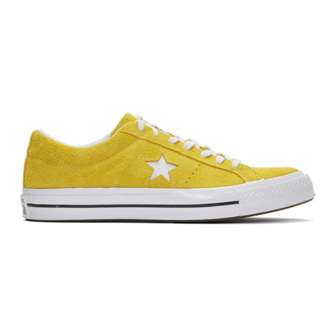 Photo: Converse Yellow Suede One Star Vintage OX Sneakers