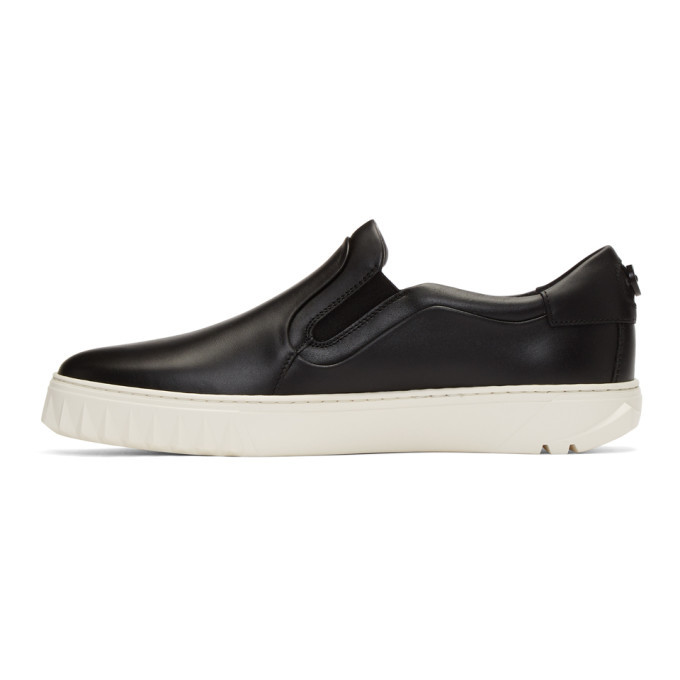Salvatore Ferragamo Black Cruise Slip-On Sneakers