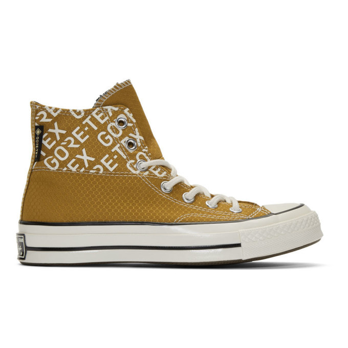 Photo: Converse Tan Gore-Tex Chuck 70 Hi Sneakers