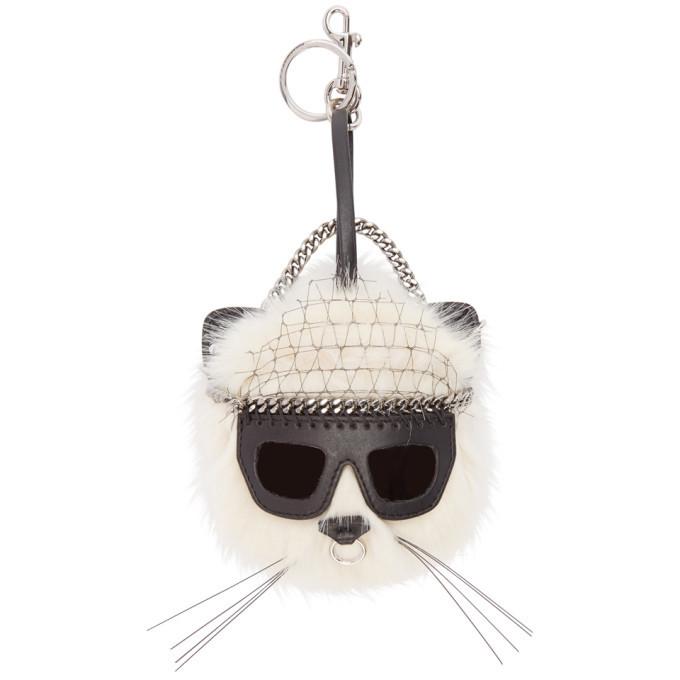Photo: Stella McCartney Ivory Sunglasses Cat Keychain