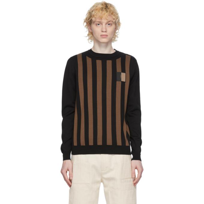 Photo: Fendi Brown and Black Cotton Crewneck Sweater