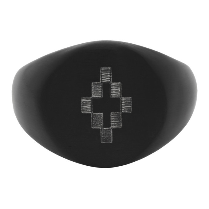 Photo: Marcelo Burlon County of Milan Black and Silver Cross Ring