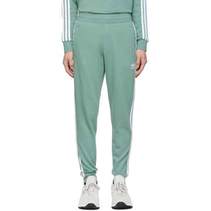 Photo: adidas Originals Green 3-Stripes Lounge Pants
