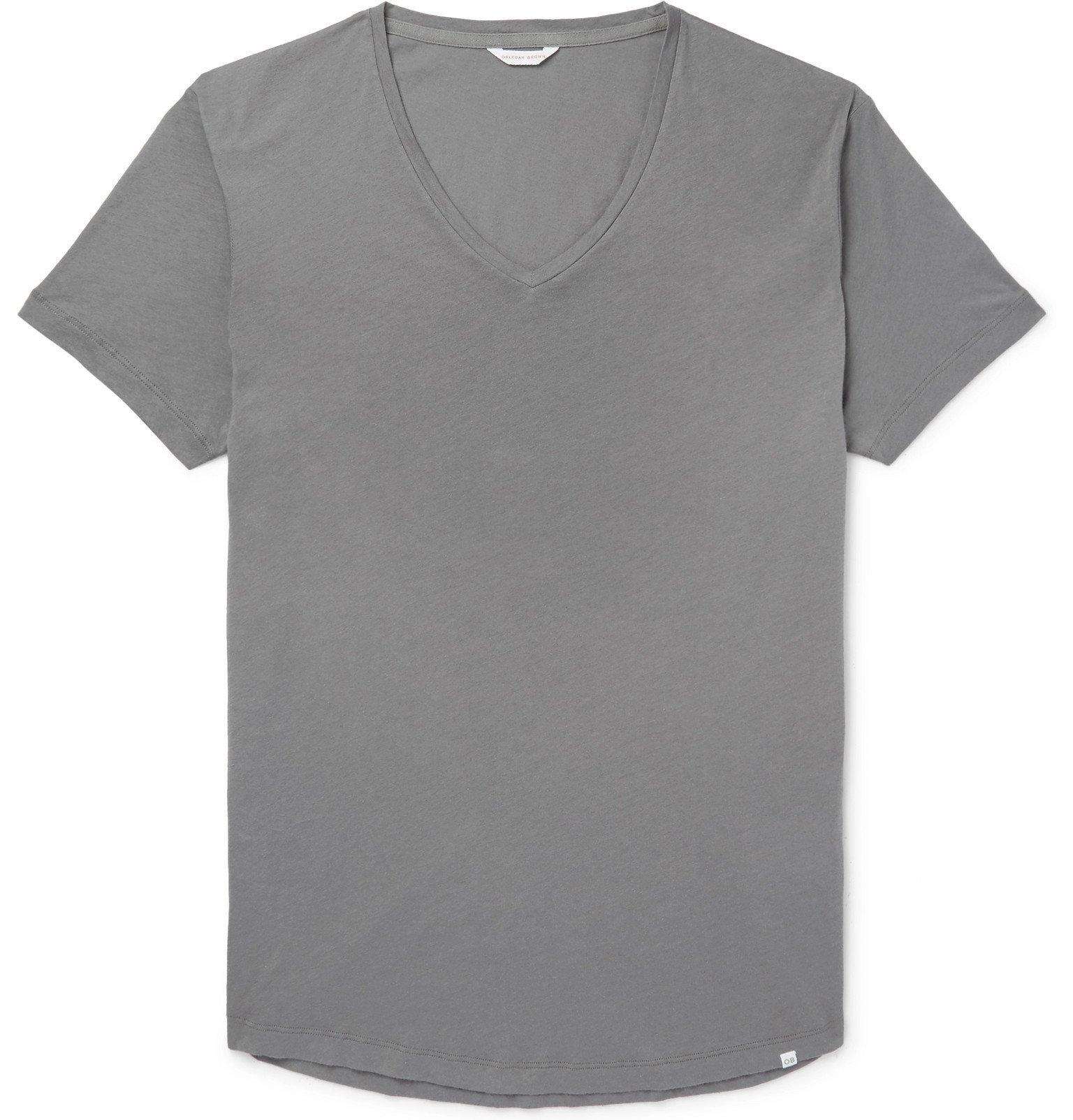 Photo: Orlebar Brown - OB-V Slim-Fit Cotton-Jersey T-Shirt - Gray