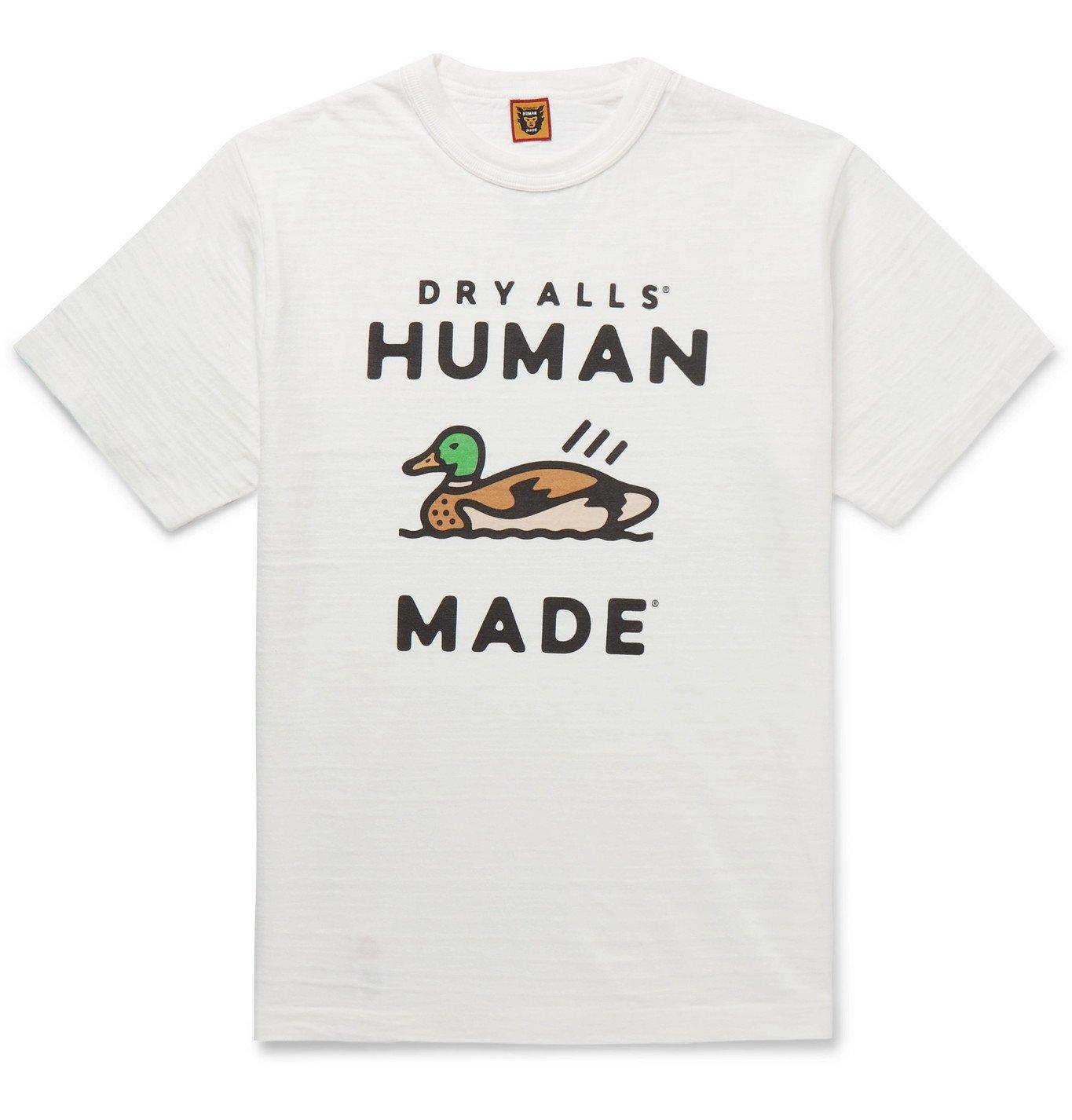 Photo: Human Made - Logo-Print Cotton-Jersey T-Shirt - White