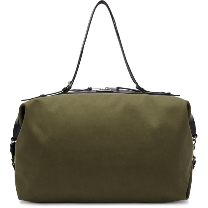Photo: Saint Laurent Khaki Large Canvas ID Convertible Bag