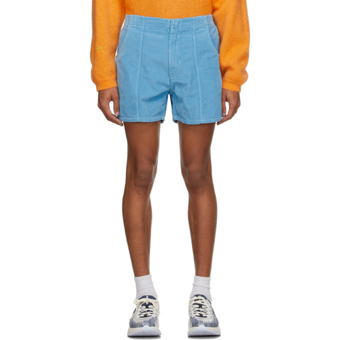 Photo: ERL Blue Corduroy Shorts