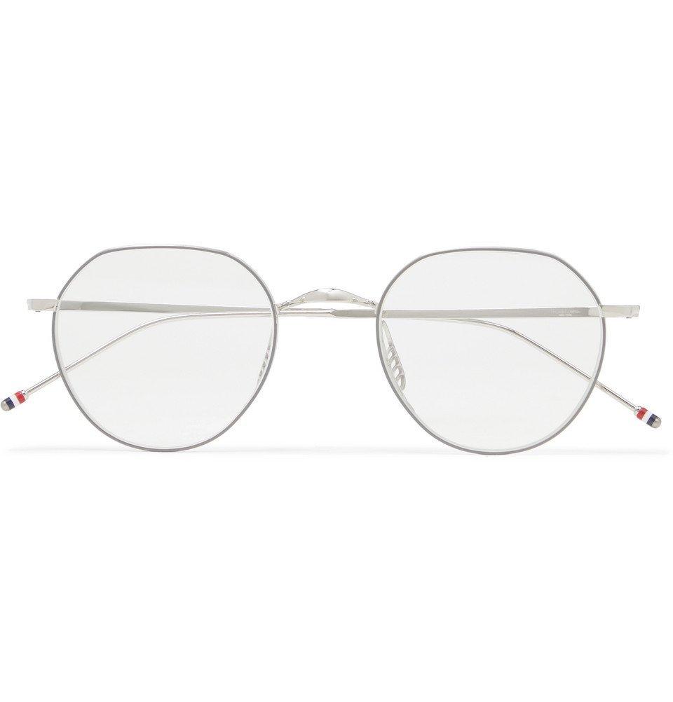 Photo: Thom Browne - Round-Frame Silver-Tone Optical Glasses - Silver