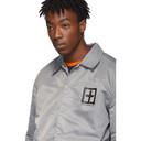 Ksubi Grey Sign Of The Times Coach Jacket