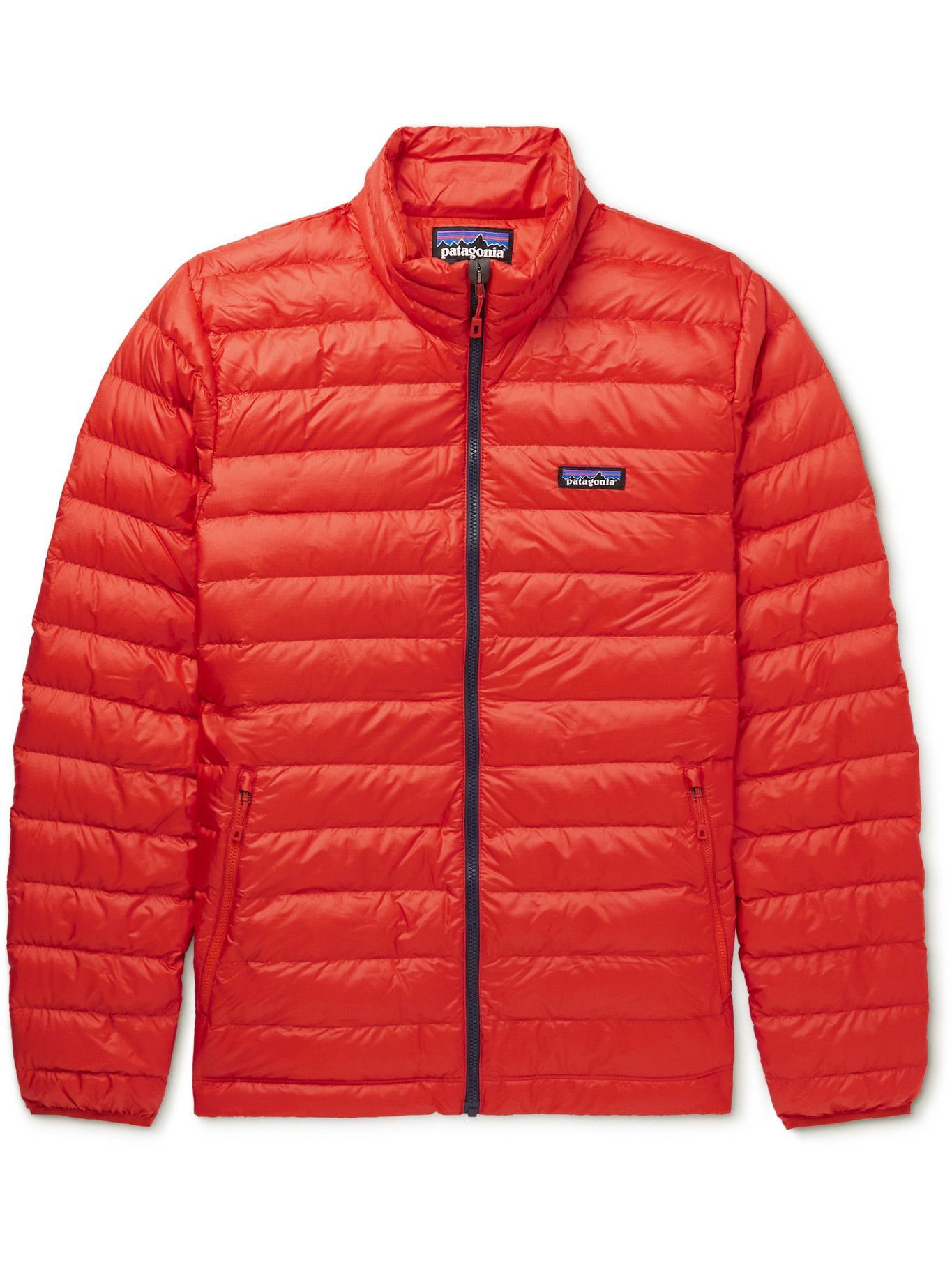 Photo: Patagonia - Quilted DWR-Coated Ripstop Shell Down Jacket - Orange