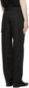 Dunhill Black Linen Carpenter Trousers
