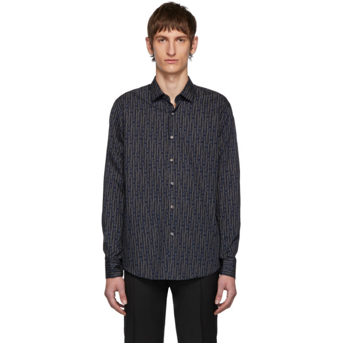 Photo: Salvatore Ferragamo Navy Bright Sky Shirt