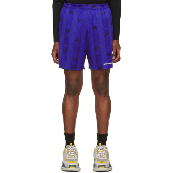 Photo: Alexander Wang Blue Athletic Jacquard Shorts