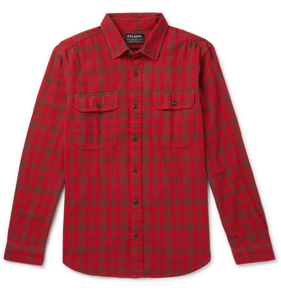 Photo: Filson - Scout Checked Cotton-Flannel Shirt - Red