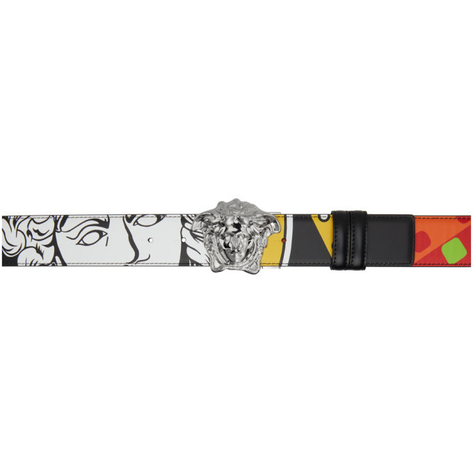 Photo: Versace Multicolor Collage Medusa Belt