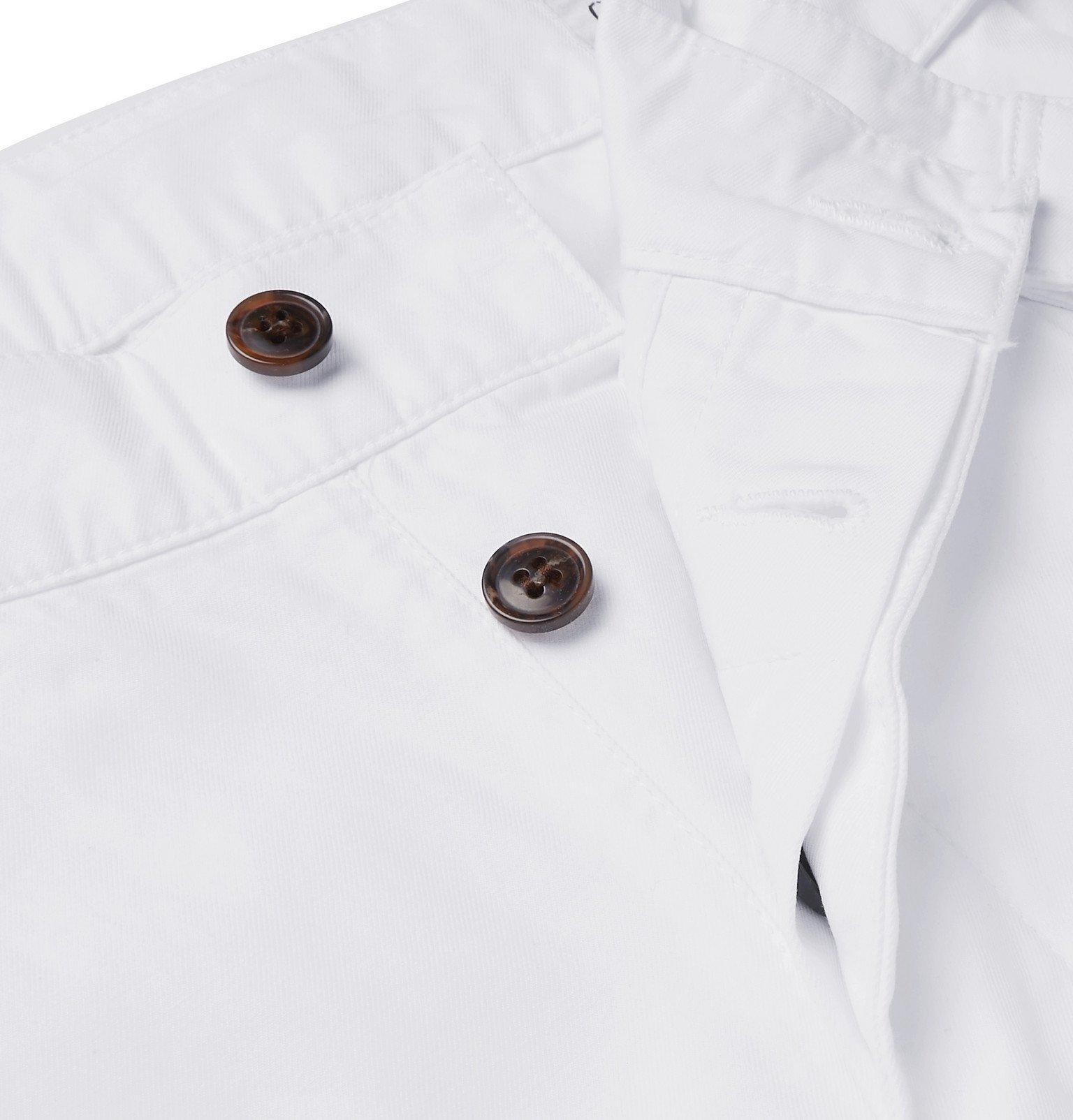 Officine Generale - Luigi Tapered Pleated Cotton Chinos - White