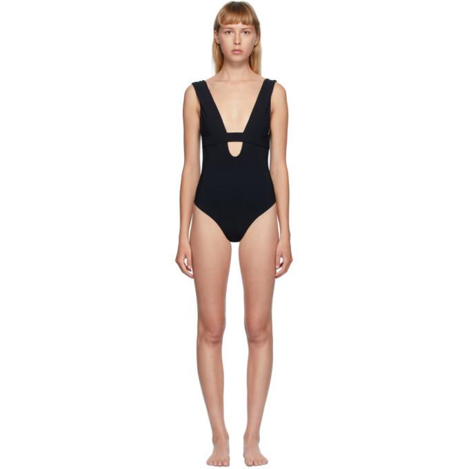 Photo: Toteme Black Brenta One-Piece Swimsuit